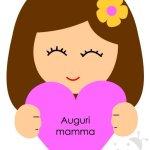 Biglietto Festa della Mamma – Bambina con cuore