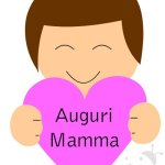 Biglietto Festa della Mamma – Bambino con cuore