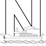 Alfabeto con disegni – Lettera N