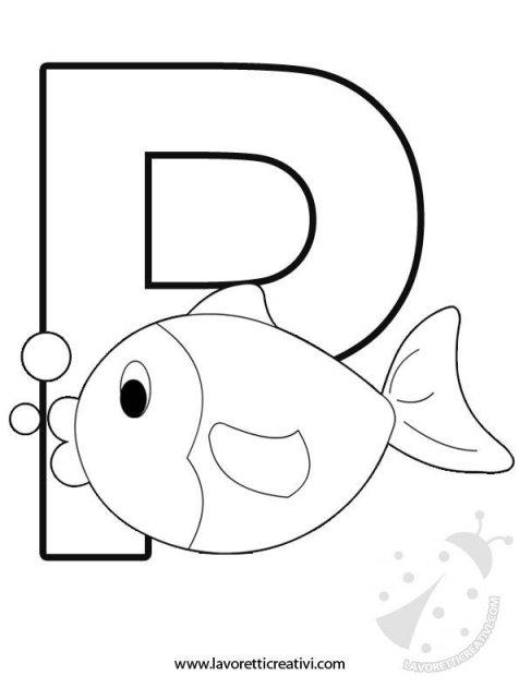 Alfabeto con disegni lettera p - Lettere animali da stampare ...