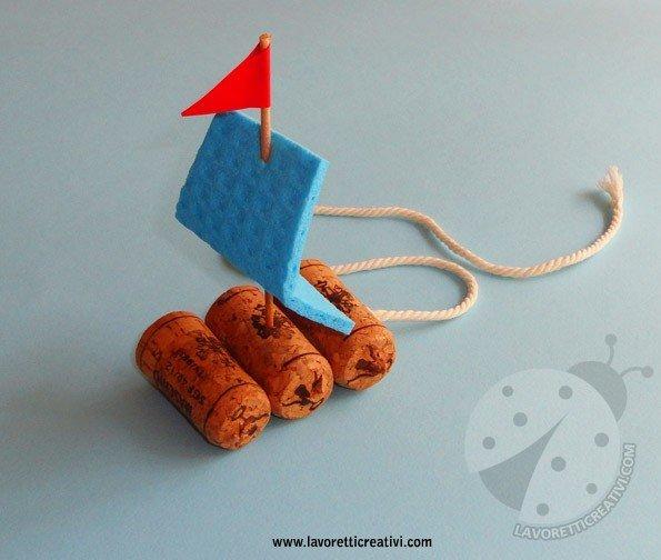 Eccezionale Lavoretti estivi per bambini - Zattera KM44