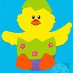 Lavoretto Pasqua – Uovo con pulcino