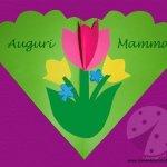 Biglietto con fiori per la Festa della mamma