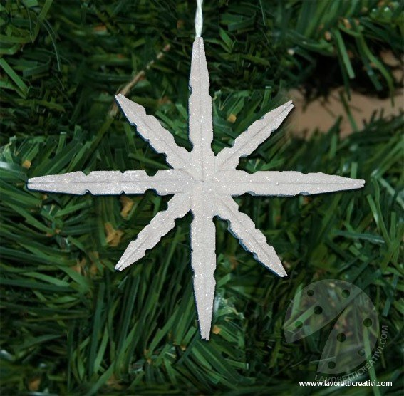 Fiocco Di Neve Con Mollette Di Legno Lavoretti Creativi