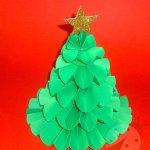 Lavoretti Natale – Albero di Natale con coccarde