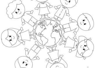 Lavoretti creativi giornata della terra - Foto della mappa del mondo da stampare ...