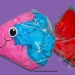 Lavoretti per bambini – Pesce con sacchetto in plastica