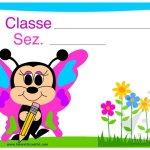 Cartello porta aula – Farfalla