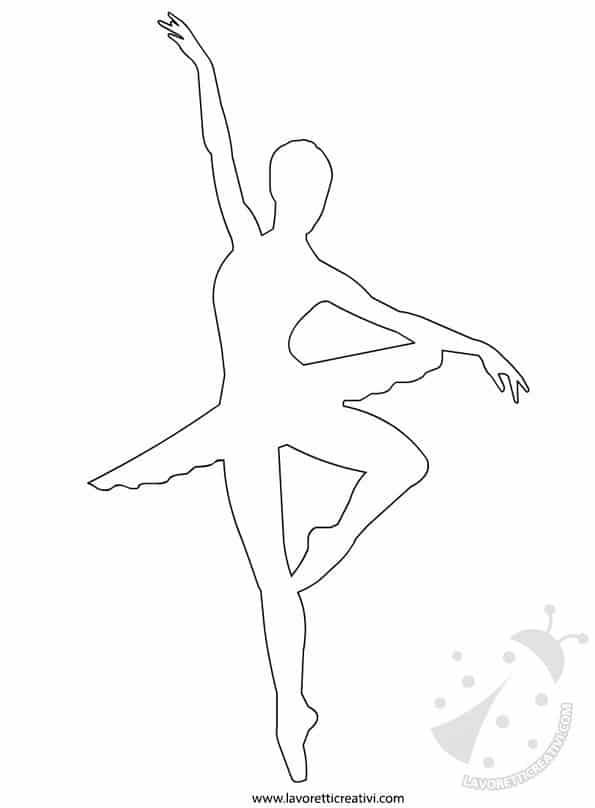 Sagome ballerina danza classica lavoretti creativi - Fogli da disegno per bambini ...