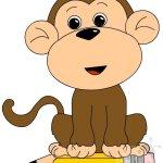 Addobbi aula – Scimmietta con matita