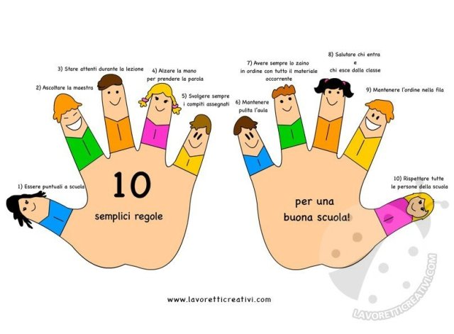 10 regole scolastiche