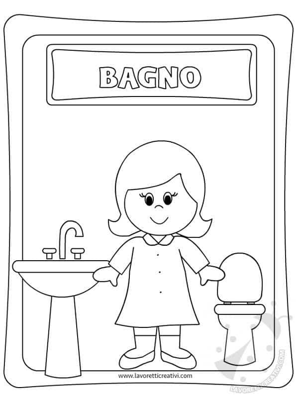 Cartello bagno bambine - In bagno con mamma ...