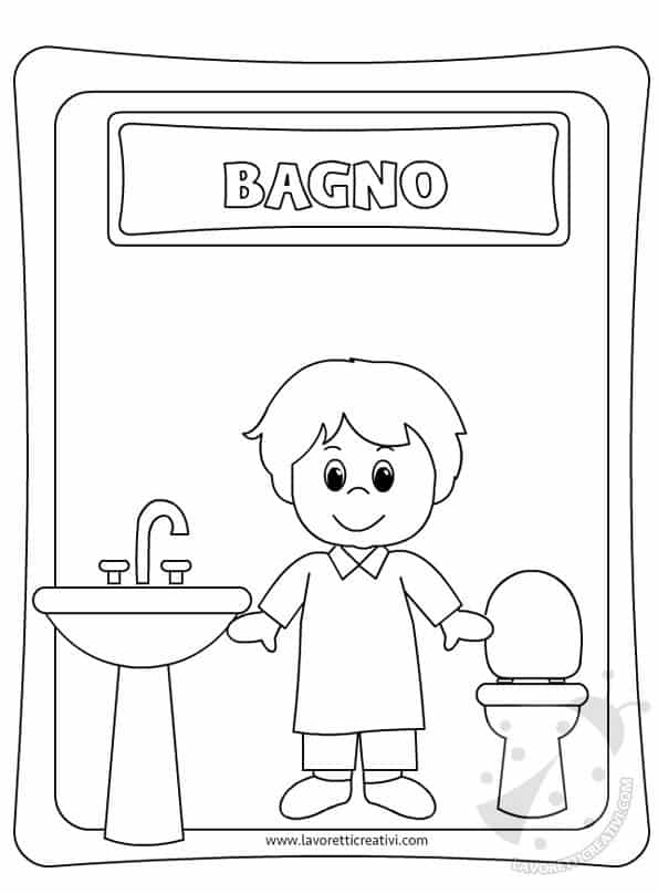 Cartello bagno bambini