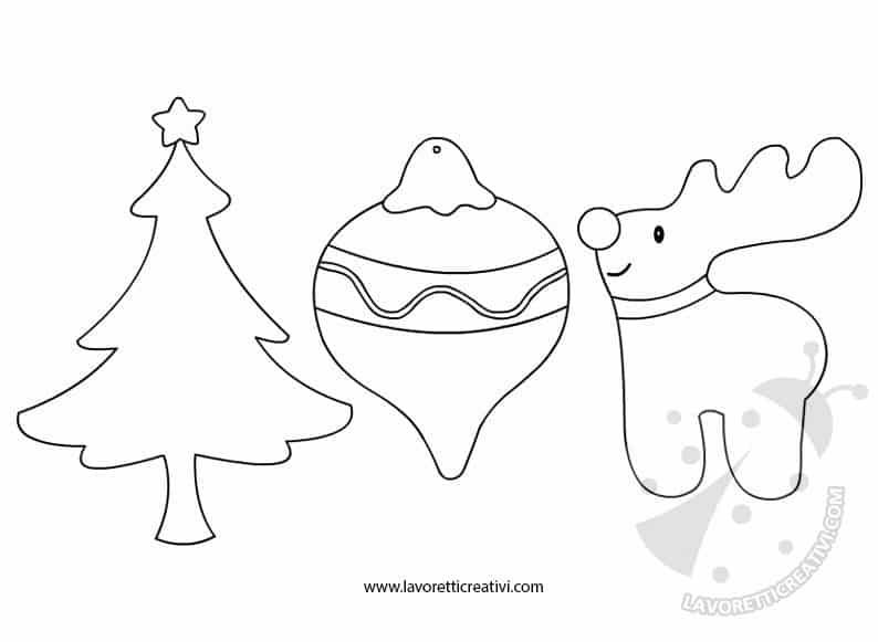 Il presepe, l'albero di natale, babbo natale, la stella cometa, le campane, le candele, il ceppo di natale e …. Sagome Di Natale Lavoretti Creativi
