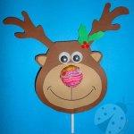 Lavoretti Natale – Renna con lecca lecca