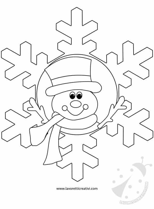Addobbi invernali fiocchi di neve con disegni for Addobbi natalizi scuola primaria