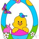 Addobbi di Pasqua per bambini – Ghirlanda con pulcino