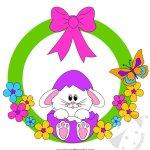 Addobbi di Pasqua – Sagome ghirlanda di Pasqua