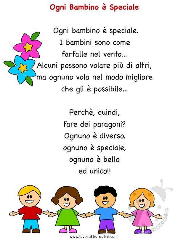 Scuola Poesia Ogni bambino è speciale