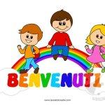 Cartellone di benvenuto per bambini