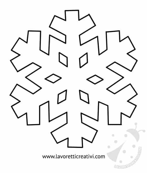 Modelli fiocchi di neve da ritagliare