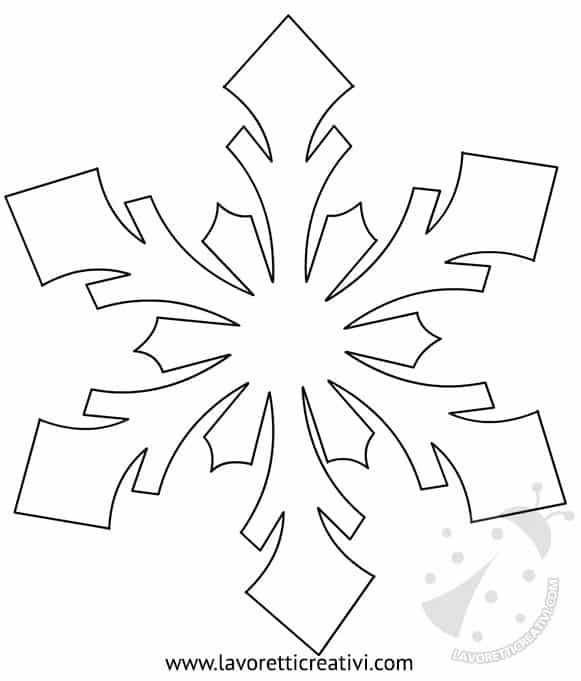 Modelli fiocchi di neve da ritagliare for Fiocco di neve da ritagliare