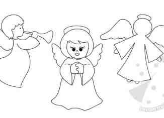 Lavoretti creativi sagome lavoretti for Figure di angeli da stampare