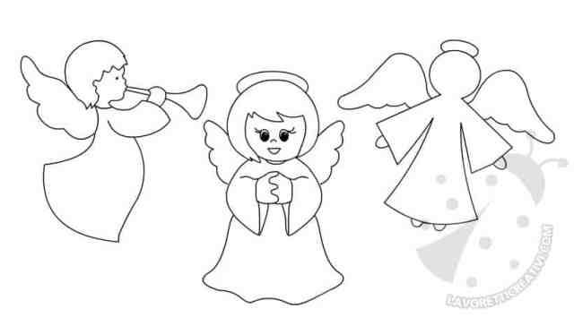 Angeli da stampare e ritagliare