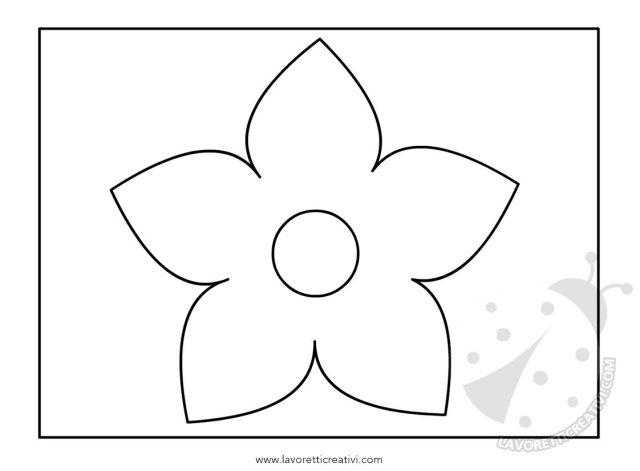 Fiore astratto con linee e punti - Fiore collegare i punti ...