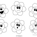 Fiori delle emozioni da colorare
