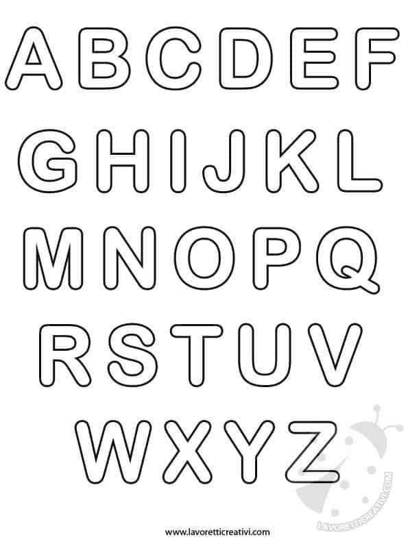 Tutte le lettere dell 39 alfabeto for Sillabe da stampare e ritagliare