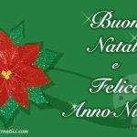 Cartolina auguri di Natale con la stella di Natale