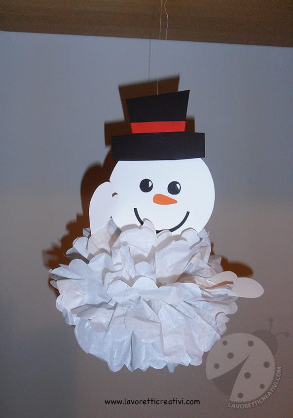 Fiocchi Di Neve Di Carta 3d : Come realizzare un pupazzo di neve con un fiocco di neve di carta