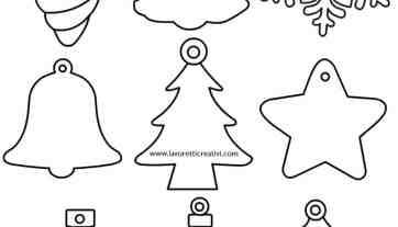 Decorazioni Di Natale Disegni.Sagome Di Natale Da Ritagliare Lavoretti Creativi