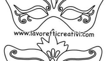 Maschere Di Carnevale Da Colorare E Ritagliare Lavoretti Creativi