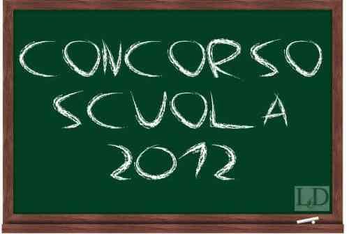 concorso scuola 2012