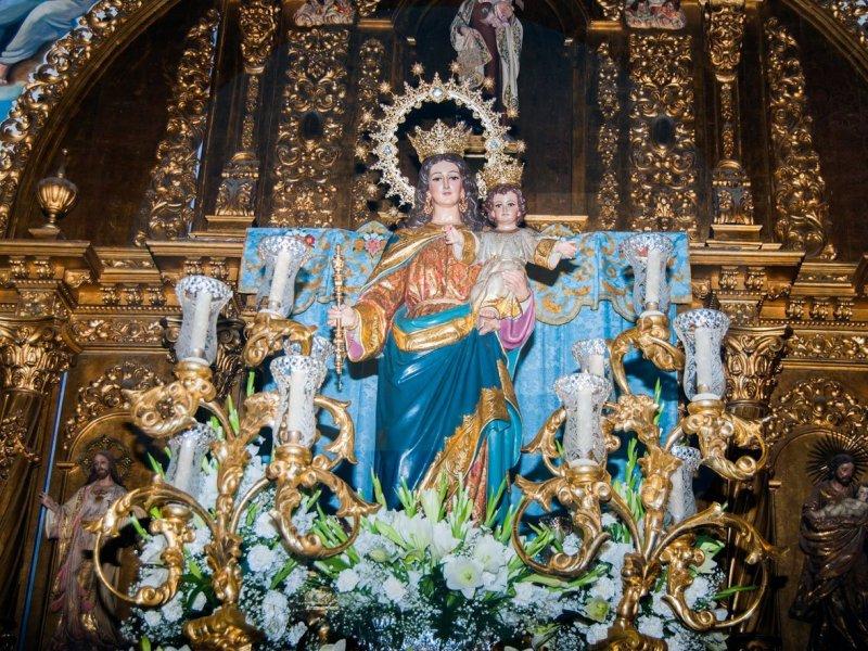 María Auxiliadora en la Capilla del Carmen