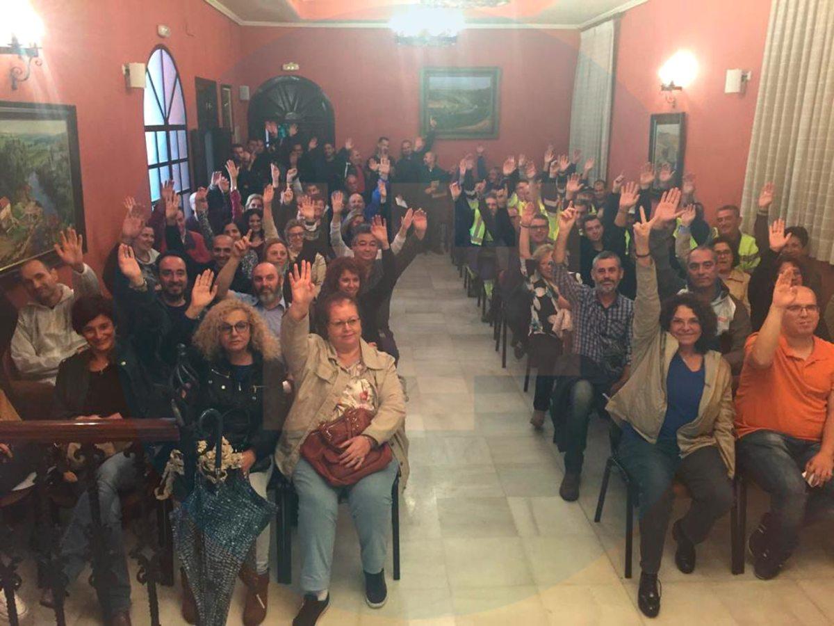 Asamblea de trabajadores del Ayuntamiento /LVA