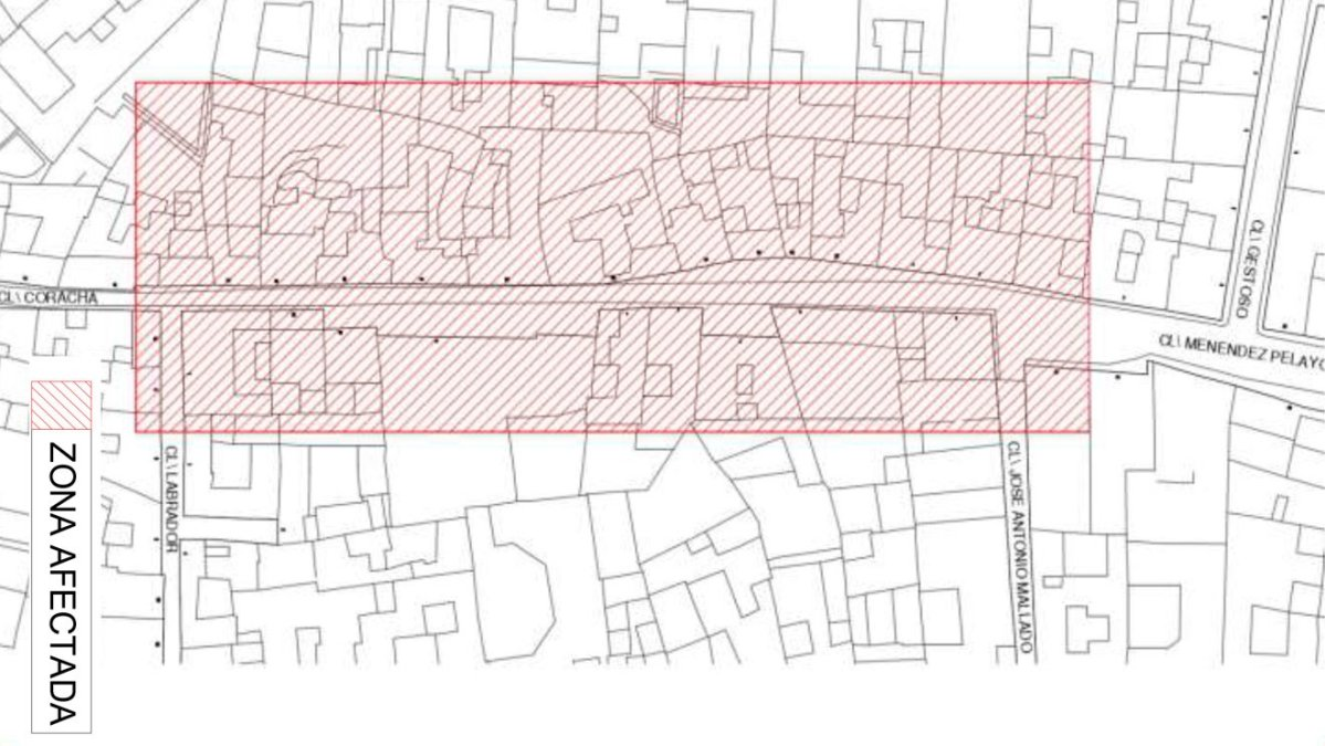 Plano calle coracha
