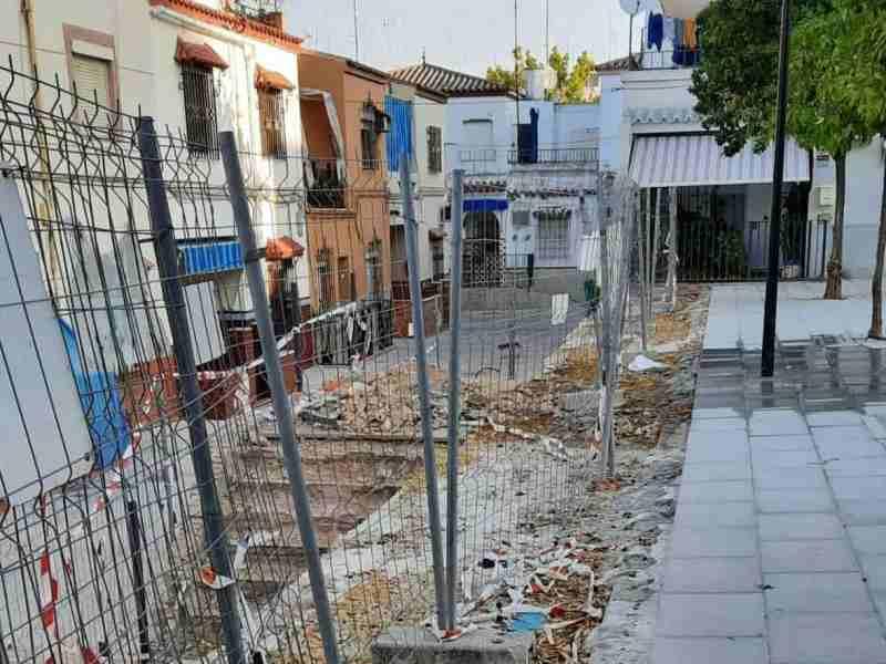 Obras en la plaza Matilde Mantecón / Lva