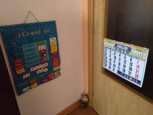 Apoyo calendario niños