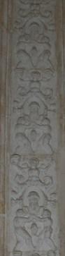 Decoración del pilar del púlpito