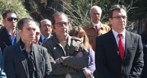 José Luis Contreras (UPyD), Rafael Sánchez (MIA) y Juan José Martín (PSOE)