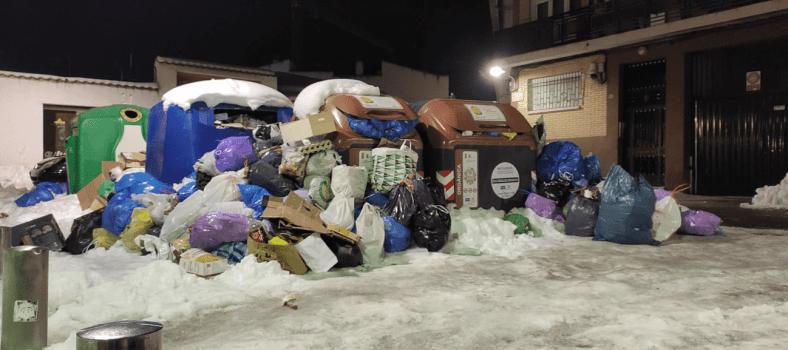 Estado de los contenedores en Pinto. 13 de enero 2021.