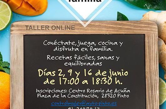 El Ayuntamiento de Pinto ha cocinado para los próximos tres miércoles del mes de junio un atractivo menú con talleres de cocina online.