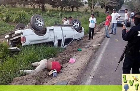 Lamentable tragedia en carretera de Ozuluama