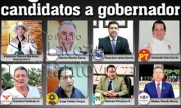 En la gráfica, los candidatos a gobernador por Tamaulipas.