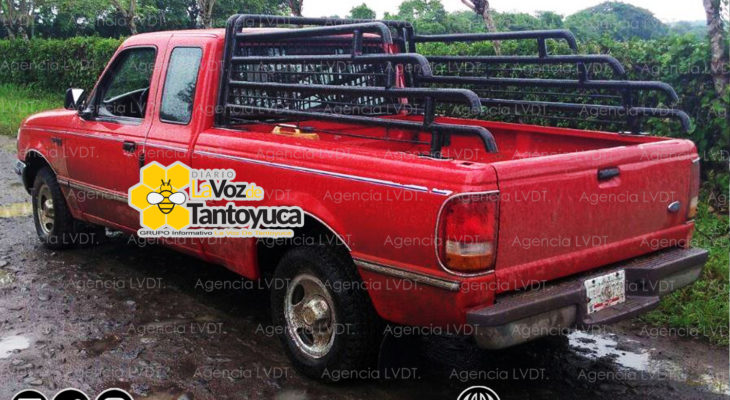 Detienen a dos por robo de camioneta, en Chontla. Agencia LVDT.