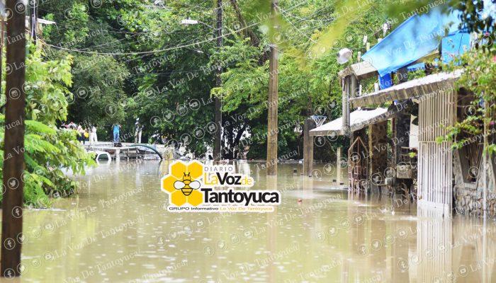 Tromba en Tantoyuca deja inundaciones y serias afectaciones. Agencia LVDT.