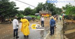 Cierran circulación en la calle Francisco Javier Mina en Tantoyuca. Agencia LVDT.